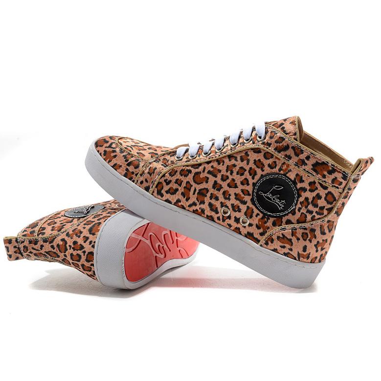 louboutin sneakers leopard femme