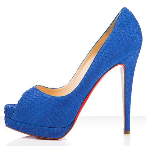 7daa0c179367 Christian Louboutin Altadama 140mm Peep Toe Pumps Blue Powder  Women ...