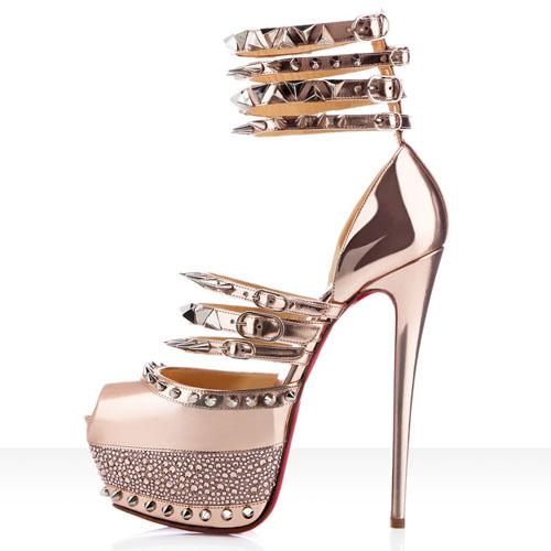 012fad9c218 Christian Louboutin Isolde 160mm Peep Toe Pumps Gold [Women Peep Toe ...